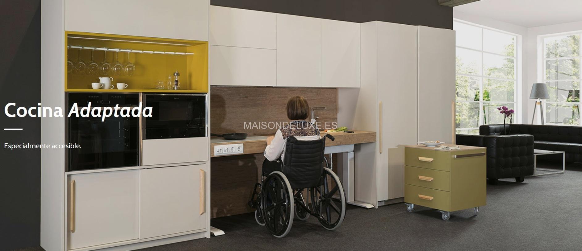 La cocina sin barreras que facilita a personas en silla de ruedas ...