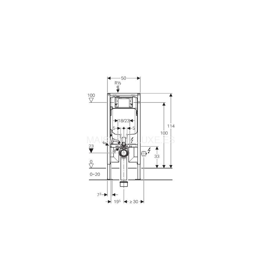 Geberit duofix cisterna sigma 8 cm para inodoro suspendido - Instalacion inodoro suspendido ...