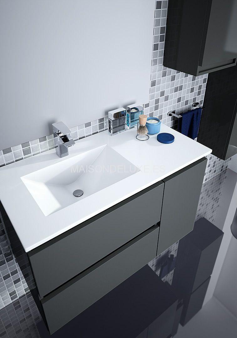 Mueble de ba o box 2 c y 1 p de 90cm viso bath maison de luxe for Muebles de bano completos