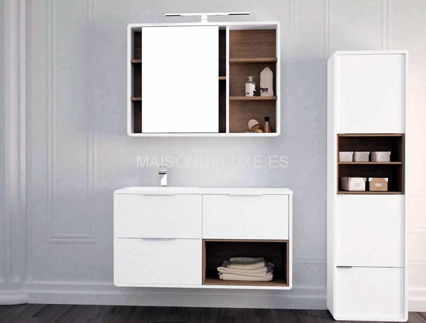 Mueble de ba o vintass de 3 cajones y 1 hueco lateral for Oferta bano completo
