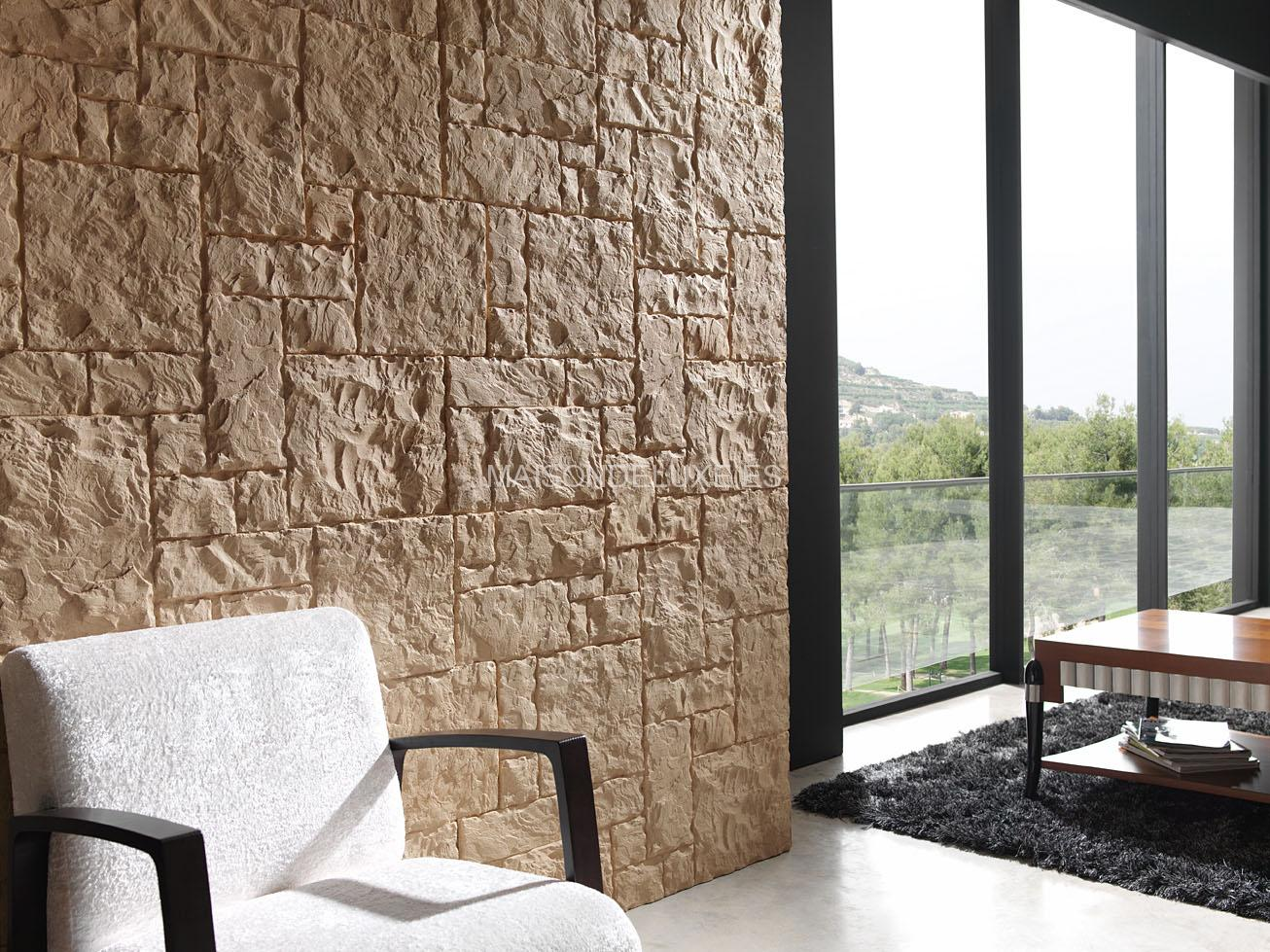 Maposteria regular distribuidor de paneles decorativos for Paredes tipo piedra