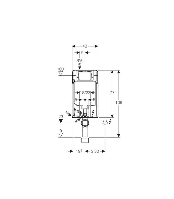 Bastidor Geberit Duofix cisterna empotrada Sigma 8 cm para